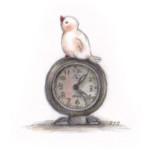 文ちゃんと時計