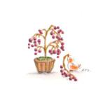 小鳥と盆栽12