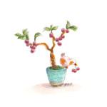 小鳥と盆栽4