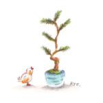 小鳥と盆栽2