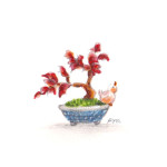 小鳥と盆栽9
