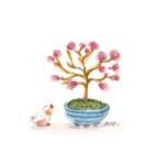 小鳥と盆栽11