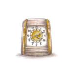 white-clock